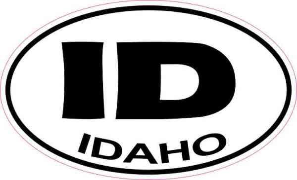 Oval Idaho Sticker