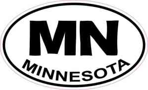 Oval MN Minnesota Sticker