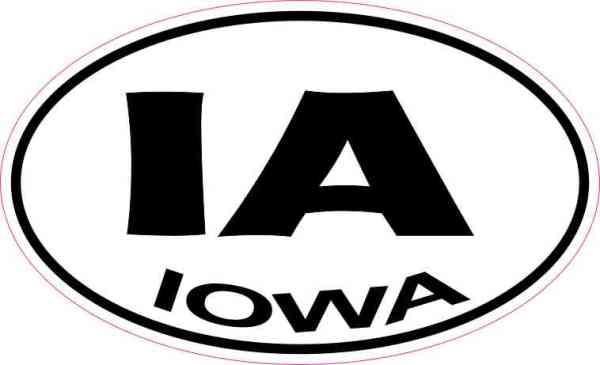 Oval IA Iowa Sticker