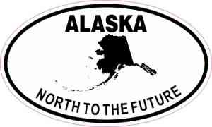Oval Alaska North to the Future Sticker