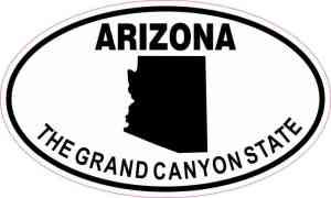 Oval Arizona the Grand Canyon State Sticker
