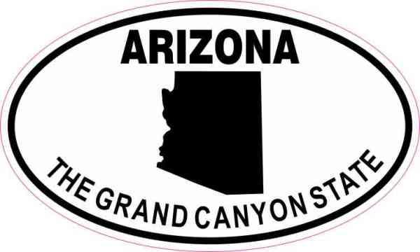 Oval Arizona the Grand Canyon State Sticker