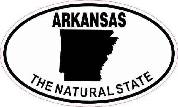 Oval Arkansas the Natural State Sticker