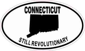 Oval Connecticut Still Revolutionary Sticker