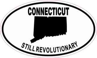 Oval Connecticut Still Revolutionary Sticker