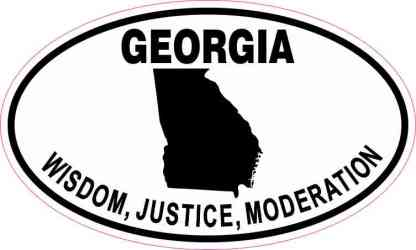 Oval Georgia Wisdom Justice Moderation Sticker