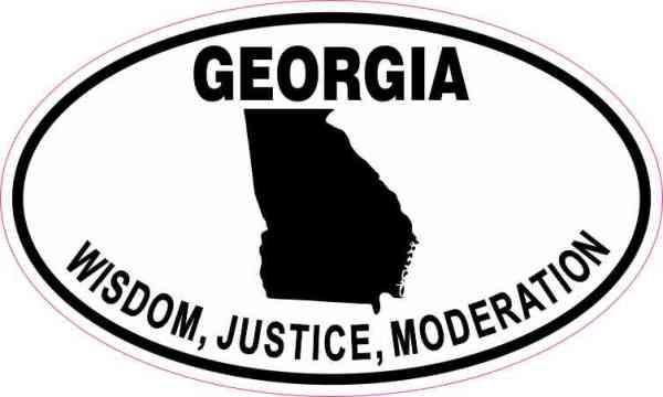 Oval Georgia Wisdom Justice Moderation Sticker