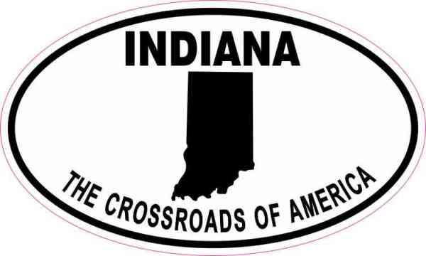 Oval Indiana the Crossroads of America Sticker