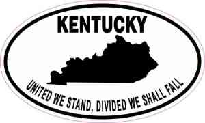 Oval Kentucky Motto Sticker
