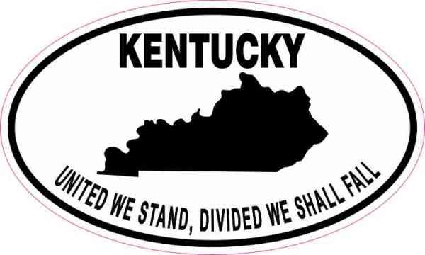 Oval Kentucky Motto Sticker