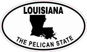 Oval Louisiana the Pelican State Sticker