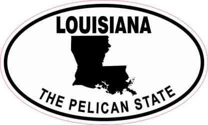 Oval Louisiana the Pelican State Sticker