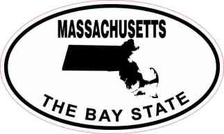 Oval Massachusetts the Bay State Sticker