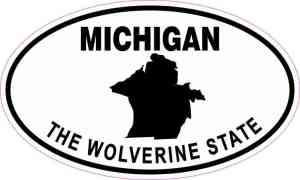 Oval Michigan the Wolverine State Sticker