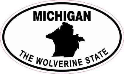 Oval Michigan the Wolverine State Sticker