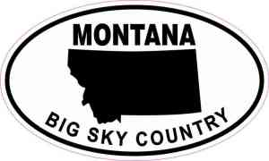 Oval Montana Big Sky Country Sticker