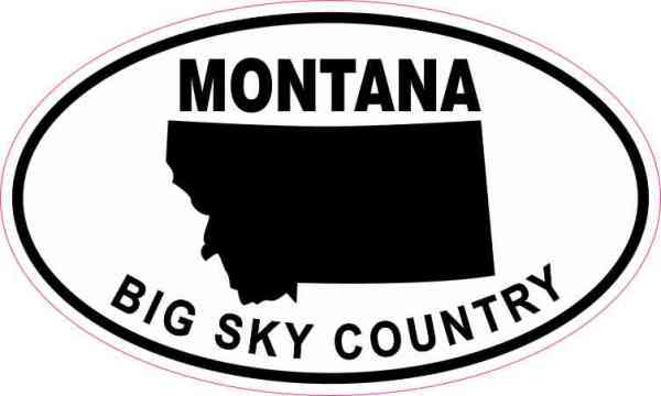 Oval Montana Big Sky Country Sticker
