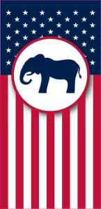 Republican Flag Banner Magnet