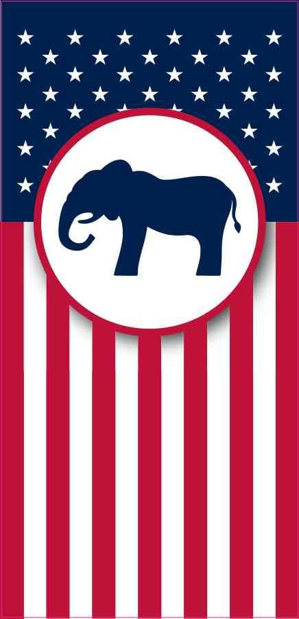 Republican Flag Banner Magnet
