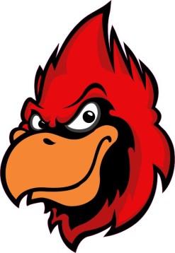 Cardinal Mascot Sticker