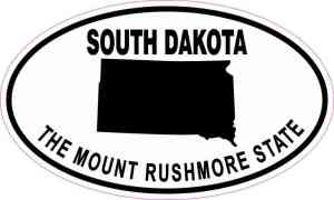 Oval South Dakota the Mount Rushmore State Sticker
