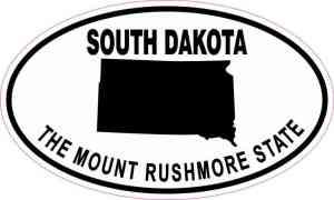 Oval South Dakota the Mount Rushmore State Sticker