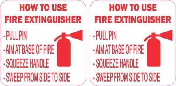 How to Use Fire Extinguisher Stickers