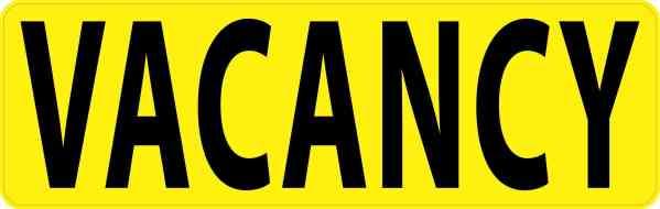 Vacancy Sticker