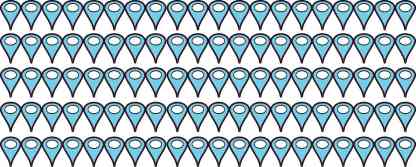 Baby Blue Map Pointer Stickers