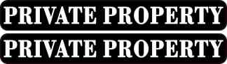 Private Property Stickers
