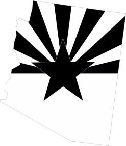 Black and White Arizona Sticker