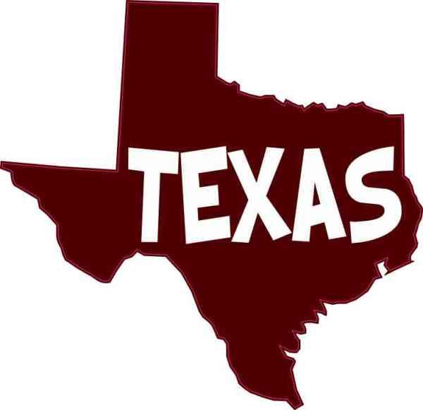 Maroon Texas Sticker
