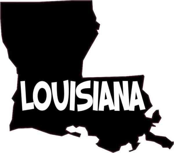 Die Cut Louisiana Sticker