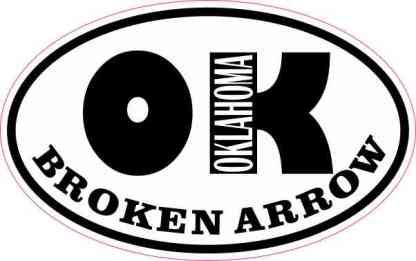 Oval OK Broken Arrow Oklahoma Sticker