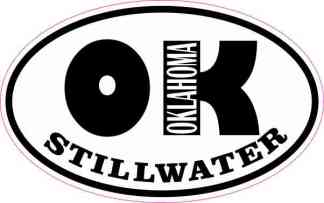 Oval OK Stillwater Oklahoma Sticker