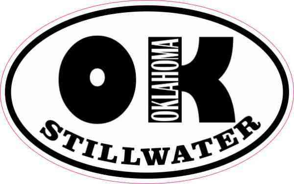 Oval OK Stillwater Oklahoma Sticker