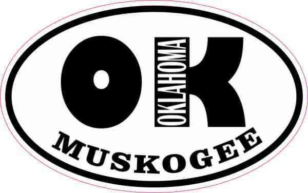 Oval OK Muskogee Oklahoma Sticker