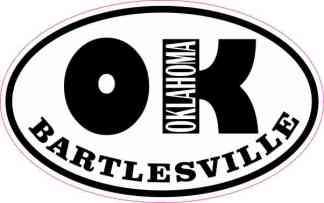 Oval OK Bartlesville Oklahoma Sticker