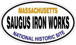 Oval Saugus Iron Works Sticker