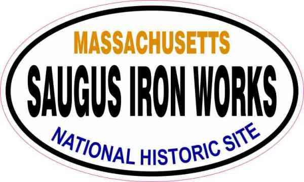 Oval Saugus Iron Works Sticker