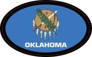 Oval Oklahoma Flag Sticker