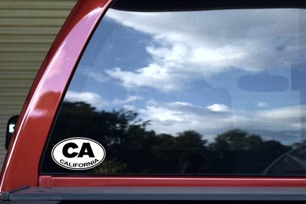 Oval California Sticker