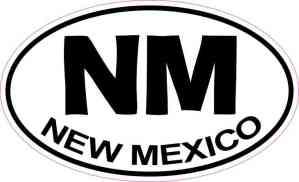 Oval New Mexico Sticker