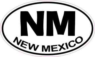 Oval New Mexico Sticker