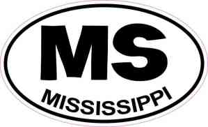 Oval Mississippi Sticker