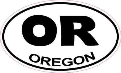 Oval Oregon Sticker