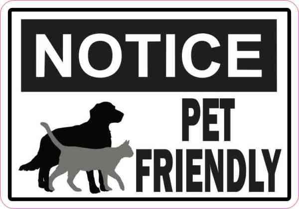 Symbol Notice Pet Friendly Sticker