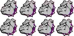 Purple Collared Bulldog Stickers
