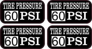 Tire Pressure 60 PSI Stickers