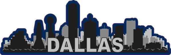 Blue Dallas Skyline Sticker